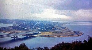 Narrows Bridge (Perth) - The bridge viewed from Kings Park, circa 1959