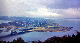 Narrows Bridge (Perth) - The bridge viewed from Kings Park, circa 1959