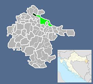 Lipovača, Vukovar-Srijem County - Image: Naselje Lipovača