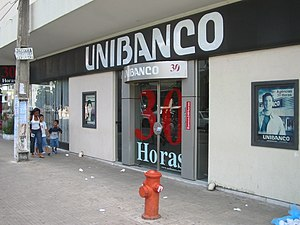 Unibanco - Unibanco branch in Natal, Rio Grande do Norte, Brazil, carrying the bank's former branding.