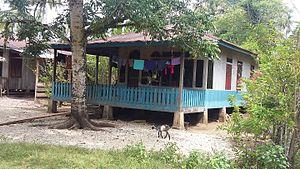 Natal, North Sumatra - Traditional house near Natal