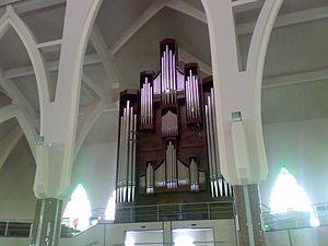 National Church of Nigeria - Pipe organ at the right wing of the church