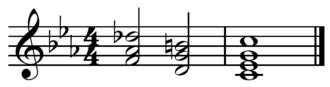 Neapolitan chord - Image: Neapolitan V i in C minor