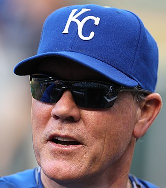 Ned Yost - Yost with the Kansas City Royals