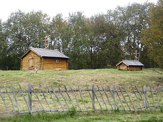 Eastern Orthodoxy in Norway - The Skolt Sami, Russian Orthodox St. George's Chapel in Neiden is a small house of prayer and a burial chapel that was originally built in 1565.
