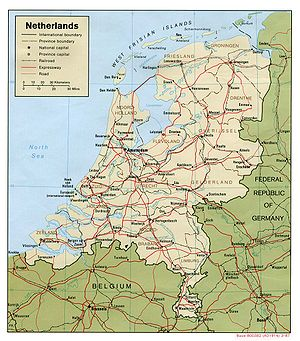 Geography of the European Netherlands - Map of the Netherlands in Europe.