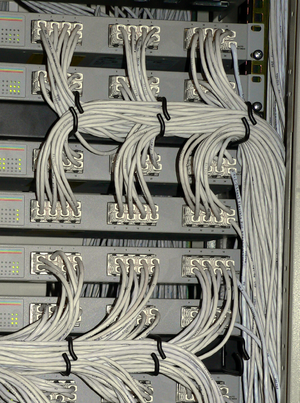 Allied Telesyn switches in rack