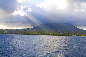 Nevis - Part of the west coast of Nevis, including the location of Nelson's Spring