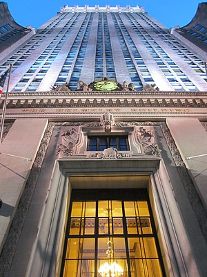 New York Central Railroad - The Helmsley Building, formerly the New York Central Building, the headquarters of the railroad
