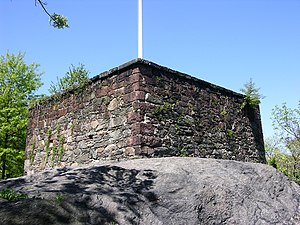 Blockhouse No. 1 (Central Park) - The Blockhouse is strategically placed on high, rocky terrain