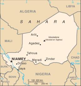 Niger - Mappa