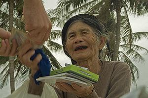 Ohaguro - A Vietnamese woman with blackened teeth