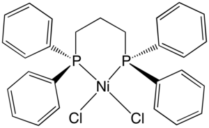 Dichloro(1,3-bis(diphenylphosphino)propane)nickel - Image: Ni Cl 2(dppp)New