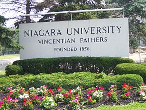 Niagara University - Image: Niagara University sign