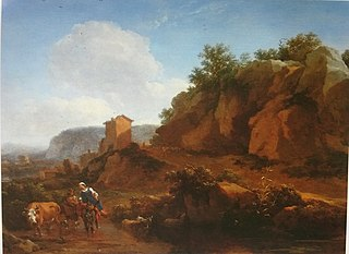 Southern Landscape with Country-Dwellers