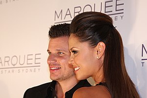 Nick Lachey - Lachey with wife Vanessa Minnillo in March 2012