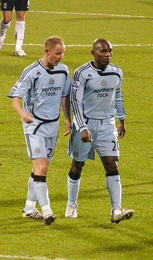 Geremi - Geremi (right) and Newcastle United´s teammate Nicky Butt.
