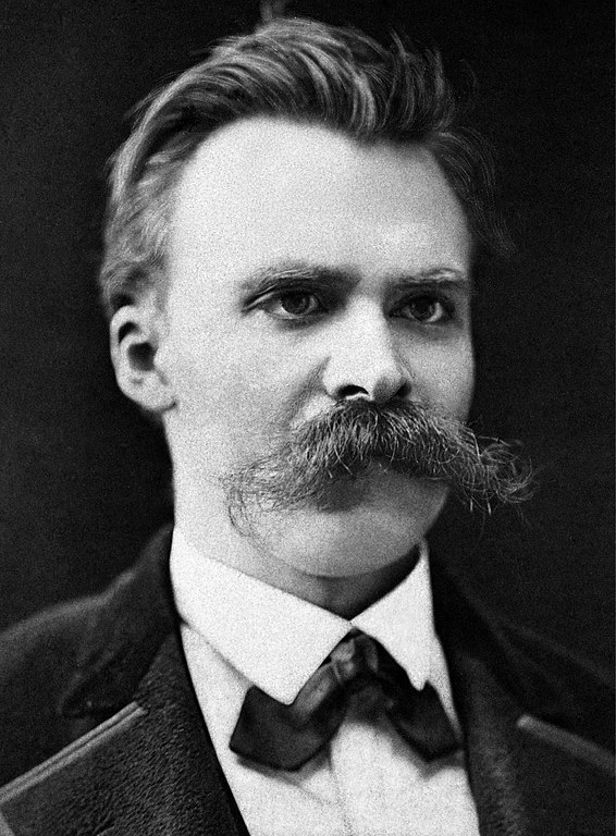 Portrait of Friedrich Nietzsche by Friedrich Hartmann, c. 1875 (Wikimedia Commons)