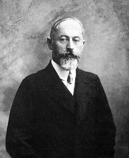 Noe Zhordania, the chairman of the second and the third government of the Republic. Noe Schordania.jpg