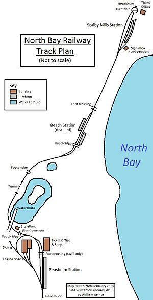 North Bay Railway - Track plan - February 2013