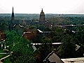 North Quad in the Summer from the Hesburgh Library.JPG