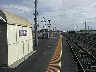 North Shore railway station - Image: North Shore Station Platforms 1 and 2