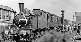 North Woolwich railway station - RCTS East London Tour in 1951
