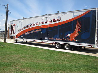Northside High School (Warner Robins, Georgia) - Trailer used by the Blue Wind band for road trips