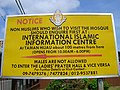 Notice sign to non-Muslims, in the compound of Masjid Muhammadi, Kota Bharu, Kelantan, about inquiring before visiting the mosque - panoramio.jpg