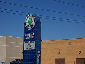 Notre Dame Academy (Green Bay, Wisconsin) - Image: Notre Dame Academy Green Bay Wisconsin Sign