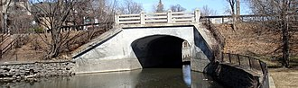 Patterson Creek (Ottawa) - O'Connor Street bridge, designed by Francis Conroy Sullivan