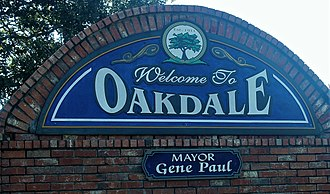 Oakdale, Louisiana - Oakdale welcome sign