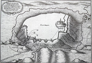 Eresburg - 1646 sketch of the bombardment of the fortress