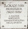 Okályi Iván emléktáblája Kossuth tér 11.JPG