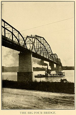 Big Four Bridge - Photo of Big Four Bridge in Baird's History of Clark County, Indiana, published in 1909