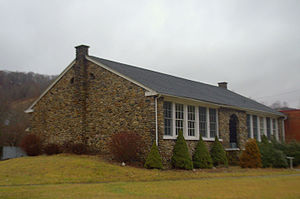 Mountain Empire District - A Picture of the Old Mount Rogers School in Whitetop, VA in Smyth County.  The Old Building is attached to the new school that has now been closed.