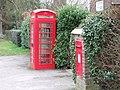 Old Red Telephone Box, Tacolneston - geograph.org.uk - 345528.jpg
