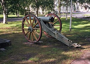 Third Battle of Artois - Image: Old field gun in Intiö Jul 2008