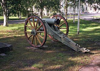 Third Battle of Artois - Image: Old field gun in Intiö Jul 2008