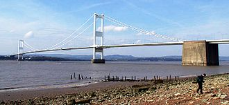 Severn Bridge - Image: Old severn bridge small