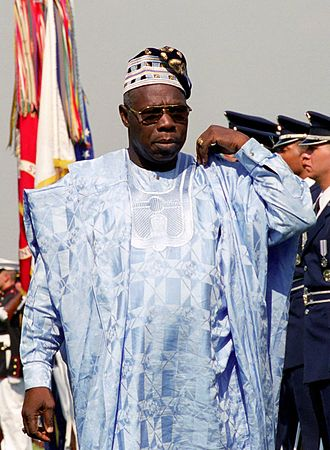 Olusegun Obasanjo was civilian President of Nigeria from 1999 to 2007. Olusegun Obasanjo DD-SC-07-14396-cropped.jpg