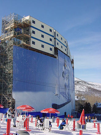 Park City Mountain Resort - Temporary spectator seating at the resort during the 2002 Winter Olympics
