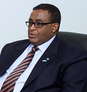 Omar Sharmarke former Prime Minister of Somalia (2009-2010) and (2014-2017)