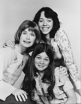 Mackenzie Phillips in 1975. She is seen here alongside fellow cast members Bonnie Franklin and Valerie Bertinelli