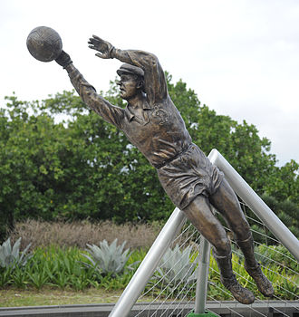 Lev Yashin - Bronze statue of Yashin in Rio de Janeiro, Brazil