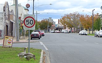 Orbost - The main street of Orbost, entering from the south.