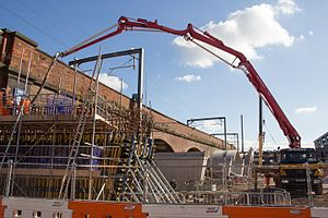 Ordsall Chord - Construction of the Ordsall Chord in October 2016
