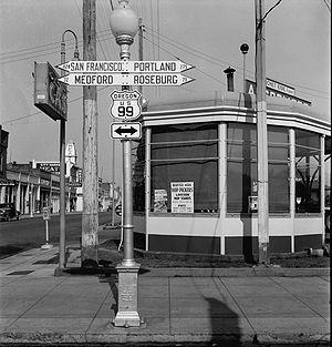 U.S. Route 99 - U.S. Route 99 in Grants Pass, Oregon, 1939