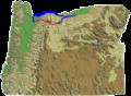 Oregon DEM relief map Barlow Road.png