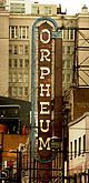 The sign above the Orpheum's marquee